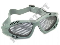 Airsoft goggles metal mesh safety glasses eye protection Green Army No fog